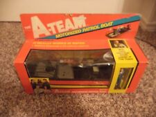 GALOOB THE  A TEAM MOTORIZED PATROL BOAT WITH HANNIBAL (SUPER RARE) MIB