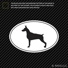 Doberman Pinscher Euro Oval Sticker Die Cut Decal Self Adhesive Vinyl dog canine