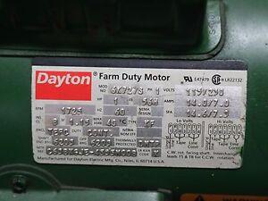 Dayton Farm Duty Motor 6K727S / 1HP