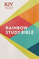 KJV Rainbow Study Bible Hardcover Ribbon Mark. Staff |