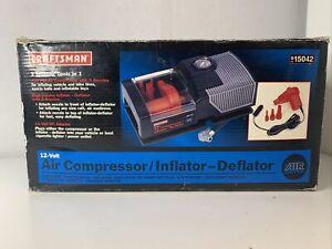 Rare New Open Box Craftsman 12 V Compressor/ Inflator Deflator Model # 9150043
