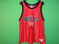 Chicago Bulls Logo 7 Mens Size XL Extra Large Red NBA Basketball Jersey