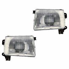 Fits 98-00 Frontier 00-01 Xterra Driver Passenger Headlight Lamp Assembly 1 Pair