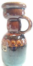 Retro Brown GERMAN STEULER ART POTTERY Candle Stick Holder with Handle 57/15