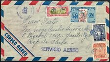 3139 GUATEMALA TO CHILE AIR MAIL COVER 1949 GUATEMALA - SANTIAGO