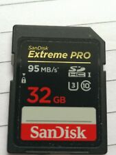 Sandisk Extreme PRO 32GB Read Speed: up to 95 MB/s1, Write Speed: up to 90 MB/s1