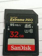 Sandisk Extreme PRO 32 GB Velocidad de lectura: hasta 95 MB/s1, velocidad de escritura: hasta 90 MB/s1