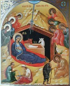 Birth of Christ Christian Icon Geburt von Christus Icon 11 by 13cm
