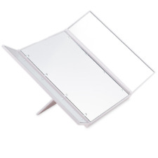8 LED Light Illuminated Foldable Make Up Cosmetic Tabletop Vanity Beauty Mirror