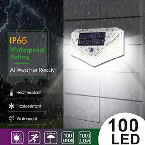 8x Lampe Solaire éclairage Extérieur Détecteur de Mouvement Applique 100 LED