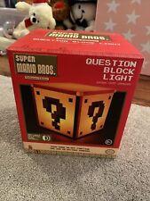 Nintendo Super Mario Bros Collectors Edition Question Block Lumière USB Boxed