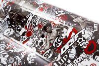 (35,56 EUR pro m²) 150x30 Stickerbombfolie Stickerbomb Autofolie sticker bomb