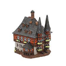 Keramik Teelichthaus Lichterhaus Teelichthalter Rathaus Wernigerode 15 cm 40543