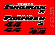 Honda Foreman 450 Trx450 S Stickers Decal Emblem Kit Of 5 1996-2006