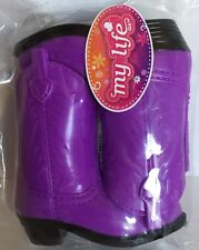 """18"""" Doll Purple Cowboy Boots My Life As Girl Cowgirl Outfit Accessory Nip"""