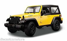 MAISTO 2014 JEEP WRANGLER WILLYS YELLOW 1/18 DIECAST NEW IN BOX 31676YL
