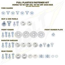 Plastics Body Fastener Full Complete Bolt Kit Honda CRF250R CRF450R CRF450X