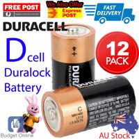 12 x Duracell D Coppertop Duralock Alkaline Flashlight Battery D Cell LR20 1.5v