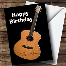 Signed Guitar Funny Personalised Birthday Greetings Card