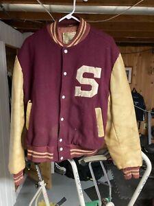 Vintage Stevens Tech Varsity Jacket XL 1960's New Jersey NJ Hoboken