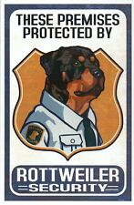 Rottweiler Security, Premises Protected By, Guard Dog, Animal -- Modern Postcard