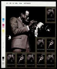 Amerikanischer Jazz-Musiker Miles Davis & Edith Piaf. 8W+Zf. Frankreich 2012
