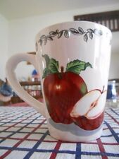 TTO40 Apple Seeds Mug (s) 12 oz. Today's Home Stoneware Red Green White Brown !