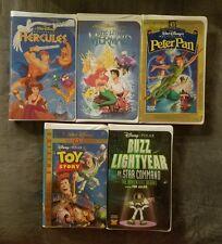 5x Disney VHS Hercules, Little Mermaid, Peter Pan, Toy Story & Buzz Lightyear