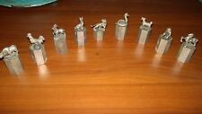 "ANTIQUE RARE CHINESE ""ZODIAC FIGURINES"" SCROLL WEIGHT  GREAT DETAIL Set of (11)"