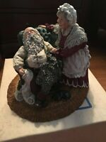 JUNE MCKENNA 1988 LAST GENTLE NUDGE LARGE SANTA AND MRS KLAUS 992/4000 SIGNED