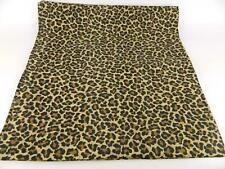 Croscill Leopard Jaguar Animal Print Brown Tan Black Fabric Shower Curtain USA