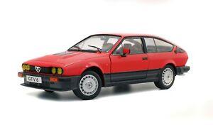 1/18 Solido Alfa Romeo GTV 6 GTV6 Red 1984 S1802301 cochesaescala