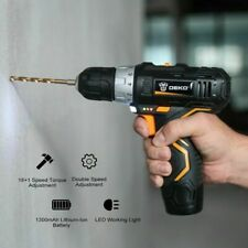 12V 32N.m Electric Lithium-Ion Battery Cordless Drill Mini Drill 2-Speed