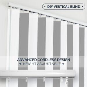 DIY Vertical Blinds-Width (60cm~240cm) Adjustable Height 127mm slat