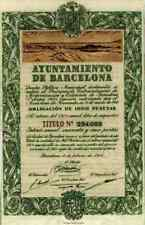 Ayuntamiento de Barcelona Stadtrat Obligation 1950 DEKO Historische Wertpapiere