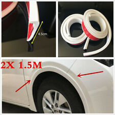 2x 1.5m 4.5cm White Car Wheel Fender Edge Moulding Protection Strip Universal