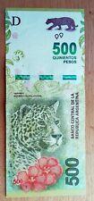 Billet de banque  USED  TB XF  Argentine 500 Pesos  JAGUAR , plis , fold AR41