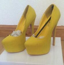 Stiletto Clubwear Standard (B) Width Suede Shoes for Women