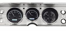 1964-65 Chevelle SS Dakota Digital Black Alloy / White VHX KPH Metric Gauge Kit
