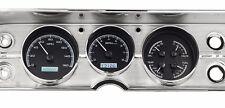 1964-65 Chevelle SS Dakota Digital Black Alloy / White VHX KPH Metric Gauge Kit