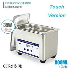 0.8L Ultrasonic Cleaning Machine Cleaner Stainless Steel Industry Timer US Ship