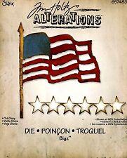 Old Glory Stars & Flag Patriotic Sizzix Bigz Die by Tim Holtz Alterations 657483
