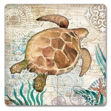 Counter Art  Coasters Monterey Bay Sea Turtle Set of 4 Coastal Beach Coaster
