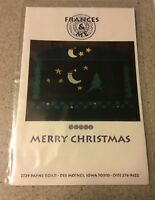 Frances & Me Merry Christmas Counted Cross Stitch Pattern stars Santa moon trees