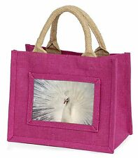 White Feathers Peacock Little Girls Small Pink Shopping Bag Christma Ab-pe19bmp