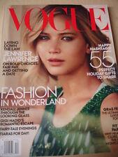 december 2015 Vogue Jennifer Lawrence sexy cover + Gigi Hadid see-thru dress