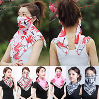 Women Chiffon UV Sun Protection Face Mouth Mask Outdoor Riding Neck Cover Scarf