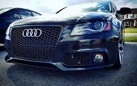 Für Audi A4 B8 8K 07-12 Kühlergrill Wabengrill Sport PDC Tuning Grill Emblem RS
