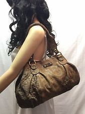 Abaco France Brown Leather Purse Shoulder Bag
