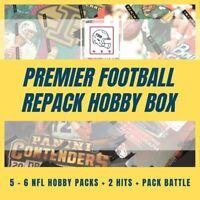 Premier Football Repack Hobby Box: 5-6 NFL HOBBY Packs + 2 Hits + Pack Battle 🔥